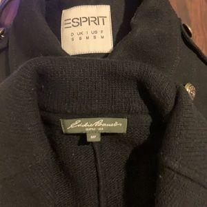 Esprit Wool Coat + Eddie Bauer Wool Cardigan